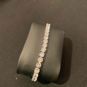 Jewelry - 18K White Gold Plated simulated diamond Bracelet